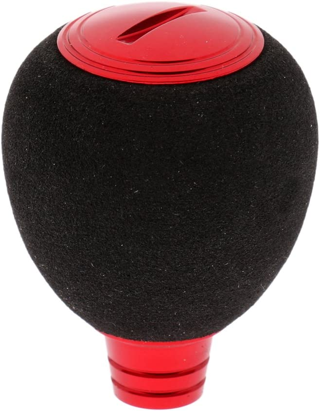plateado rojo Homyl Pomo de bola con mango de aluminio para todos los tipos de carretes de spinning dorado