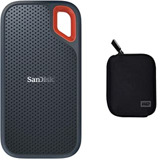 SanDisk 500GB Extreme Portable External SSD - Up to 550MB/s - USB-C, USB 3.1 - Grey + Carrycase