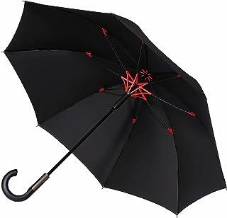 【前代未聞の撥水性能大突破】Vialifer長傘 メンズ レディース 日傘 傘 超撥水 260T高強度グラスファイバー Teflon加工 軽量 耐風 丈夫 大きい 自動開けステッキ傘 紳士傘 晴雨兼用傘 収納ポーチ付き