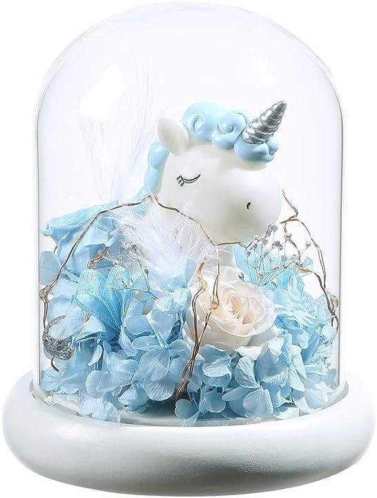 rosa incantata elegante copertura in vetro tondo con base bianca chiara a led anlunob b082ky8cyr