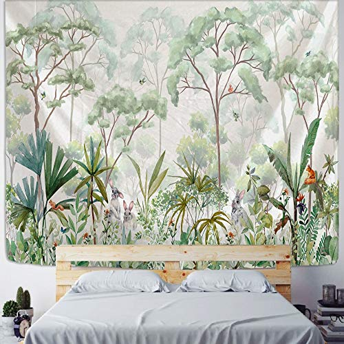 KHKJ Tapiz de Planta de Palma Colgante de Pared Hippie Bohemio psicodélico Colorido Arte Ins Estilo Tapiz habitación decoración del hogar A1 95x73cm