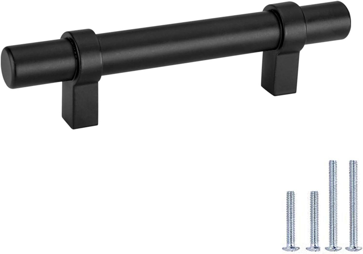 3.34 5/'/' 6.3/'/' Black Beech Cabinet Pull Knob Brushed Steel Matte Aluminum Cabinet Handles Dresser Drawer Pull Handles Bar 96 128 160mm
