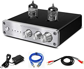 FX AUDIO Home Audio 6N3 Tube Preamp—Mini Hi-Fi Stereo Bass&Treble Control Vacuum Tube Preamplifier with DC12V Power Suppl...
