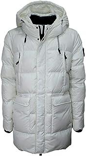 HOX Chaqueta para hombre XU3707 Over Coat Real Down, color blanco