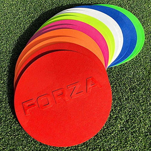 """Net World Sports Forza Flat Disc Markers (10qty) [7"""" Diameter] Available (Any Color!) (Multi-Colored)"""