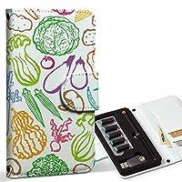 スマコレ ploom TECH プルームテック 専用 レザーケース 手帳型 タバコ ケース カバー 合皮 ケース カバー 収納 プルームケース デザイン 革 ユニーク 野菜 カラフル 模様 008423