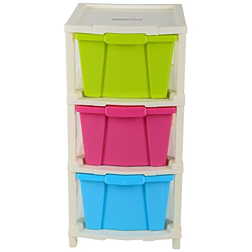 Joyful Plastic Modular 3 Drawer Set (50 cm x 32 cm x 23 cm)