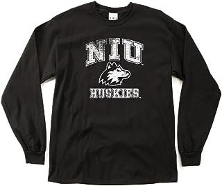 NCAA Northern Illinois Huskies 100-Percent Pre-Shrunk Vintage Mascot Long Sleeve Tee