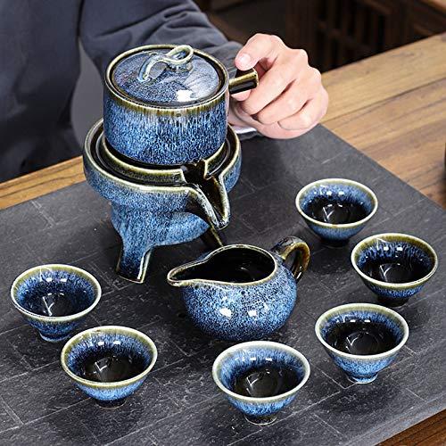 ZCME-power Juego de té de cerámica Juego de té de Kung Fu Juego de Lujo,Juego de té de Viaje portátil con Tetera,Lata de té, teteras, Tazas de té,Bolsas de Viaje, adecuadas para Viajes, hogar