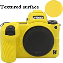 Yisau Nikon Z6 Z7 Camera Case, Professional Camera Silicone Case Removable Texture Process Suitable for Z6 Nikon Z7 Nikon Digital Camera + Microfiber Cloth (Yellow)