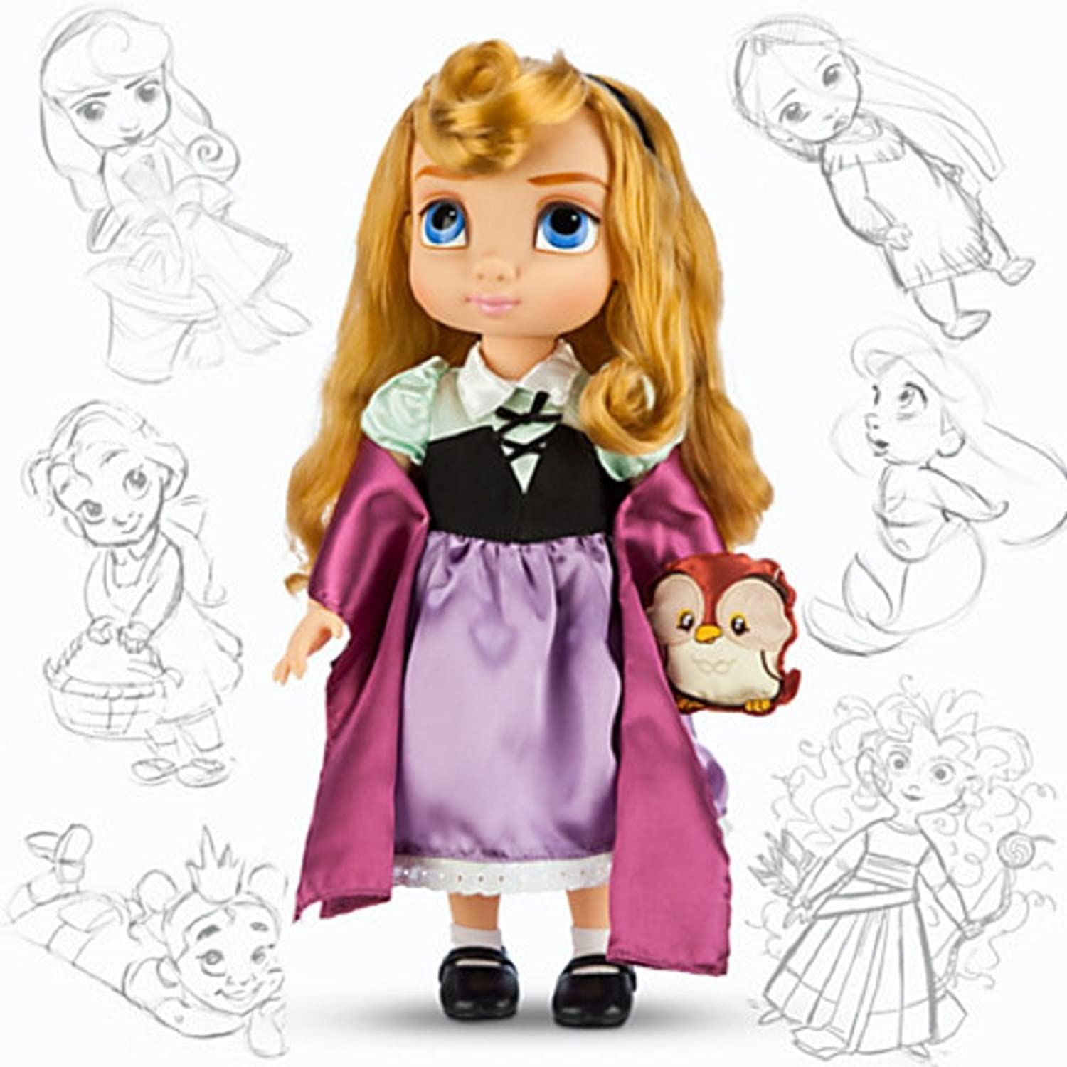 Disney Animators' Collection Aurora Doll with Owl - 16'' by Disney