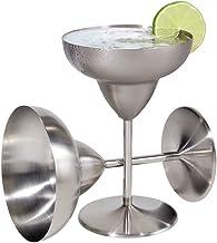 Oggi 12-Ounce Stainless Steel Margarita Goblets, Set of 2