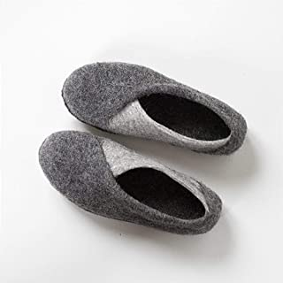 Bure Bure Handmade Felted Wool ENVELOPE Slippers for Women Felted in Europe Gray