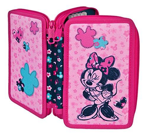 Doppeldecker Schüleretui mit Stabilo Markenfüllung, Disney Minnie Mouse