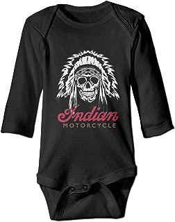 Baby Long Sleeve Indian-Motorcycle Onesies Bodysuit Soft Romper Outfits Black