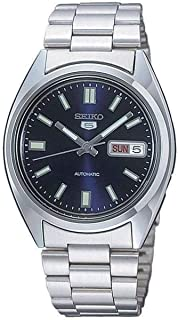 Seiko SNXS77 Automatic Blue Day Date Dial Silver Steel Bracelet Men Watch NEW