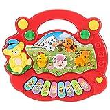 Juguete de piano de granja de animales, juguete de piano musical con canciones musicales, teclado electrónico de aprendizaje para niños