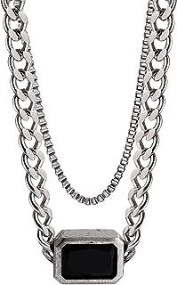 Necklaces القلائد النسائية التيتانيوم الصلب قلادة مزدوجة قلادة الترقوة سترة سلسلة الراقية قلادة Necklace for Women