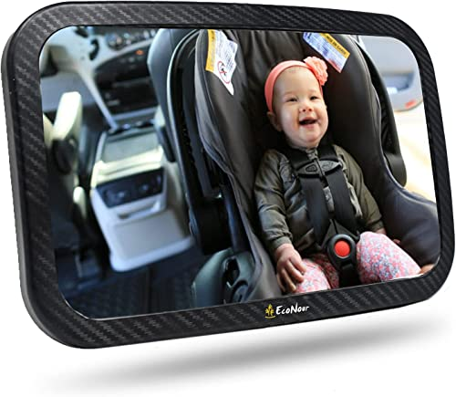 wholesale EcoNour Baby online sale Car Seat Mirror | Shatterproof, 360 Degree Rotatable Baby Rear View Backseat Mirror outlet sale | Safely Monitor Your Kids In The Infant Car Back Seat | Backseat Mirror For Rear Facing Car Seat sale