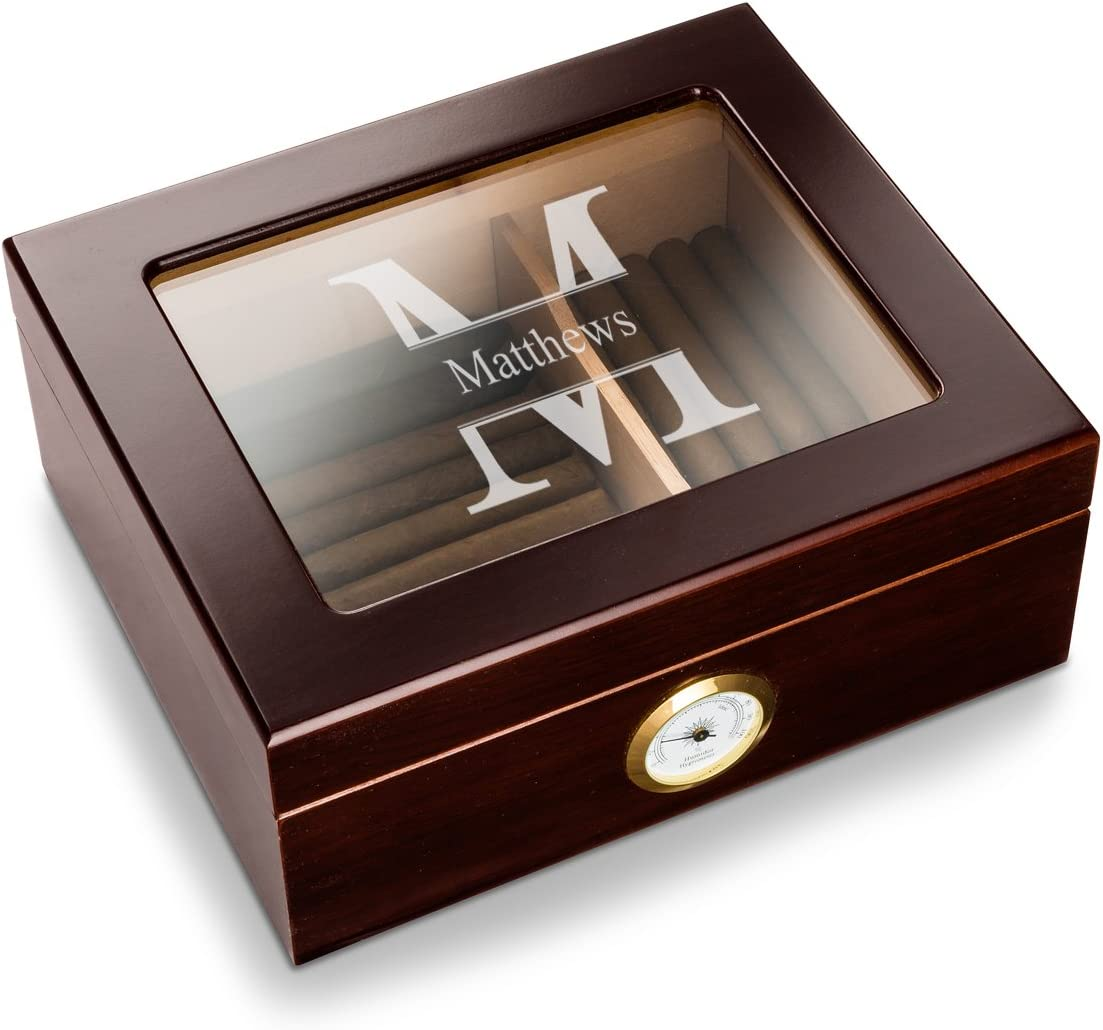 Personalized Ranking integrated 1st place Humidor Cigar Wooden Product Box Case - Stamped Design St