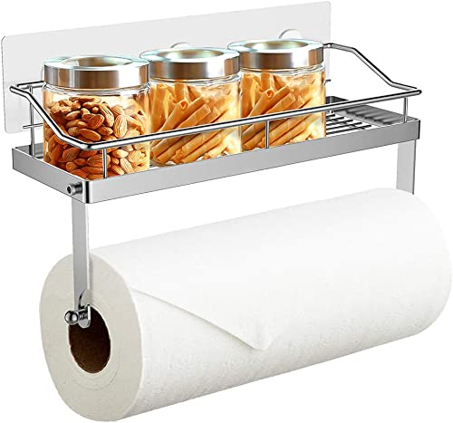 Cozy Home2 Adhesive Paper Towel Holder Wall Mounted, 304 Stainless Steel, Organizers and Storage for Kitchen & Balcon...