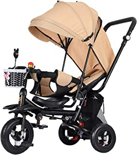 Kids' Tricycles Children's Tricycle Bicycle Reclining Can Sit Light Child Stroller Infant Folding Two-Way Trolley 4 Color Optional As A Gift