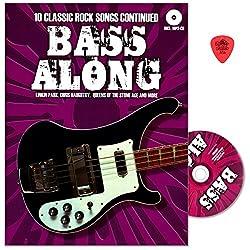 Bass Along VIII-10chansons Classic Rock continued-CHANSONS proviennent notamment de Linkin Park, DAUGHTRY ou Queens of the Stone Age-SING portable avec CD et Dunlop plek