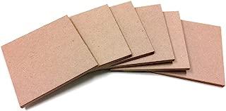 SJT ENTERPRISES, INC. Square MDF Wood Craft Plaque Sign 5 x 5-inches, 6-Pack (SJT00068)