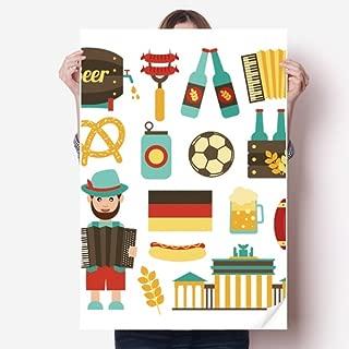 DIYthinker Soccer Beer Sausage Brazil Cultural Sticker Poster Decal 31x22
