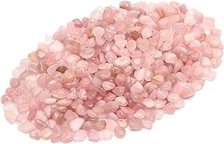 ZenQ 1 lb Madagascar Rose Quartz Tumbled Stone Chips Crushed Natural Crystal Quartz Pieces