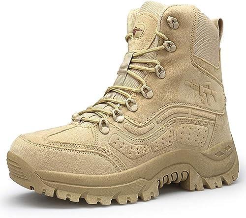 HGDR Bottes Militaires Montantes extérieures pour pour pour Hommes Bottes du désert Tactique Armée Camping Chaussures de randonnée Chaussures de Travail pour Cadets Forces spéciales d0e