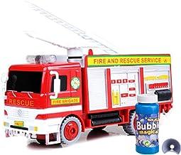 S-TROUBLE Camión de Bomberos Camión de Juguete Máquina de Burbujas Soplador Luces y Sonidos Universal Electric Firefighting Blowing Model Car