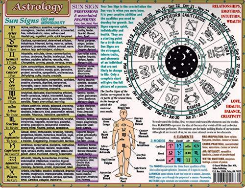 Sacred Wisdom Chart: Astrology,8.5  x 11  Inch