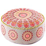 Mandala Life Art - Cojín de suelo bohemio – Lujoso, decoración de habitación...