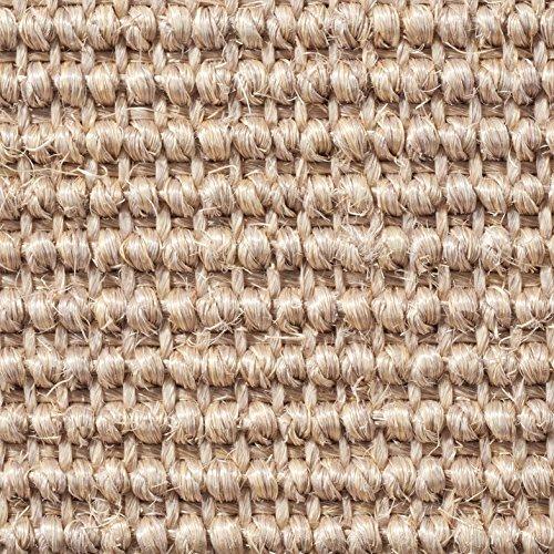 Teppichboden Auslegware | Sisal Naturfaser Schlinge | 400 cm Breite | natur | Meterware, verschiedene Größen | Größe: 4 x 4m
