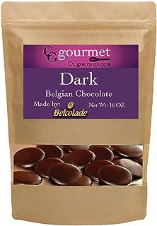 Belcolade Belgian Baking Dark Chocolate Wafers - 16 OZ (1LB) Noir Superieur 60% | Ice packs + Insulation