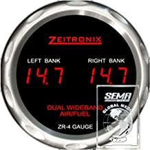 Zeitronix 52mm Dual AFR Air Fuel Ratio Wideband ZR-4 Slim Red Gauge