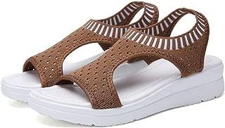 2019 Sandals Women Summer Shoes Peep Toe Casual Flat Ladies Breathable Air Mesh Platform Sandalias