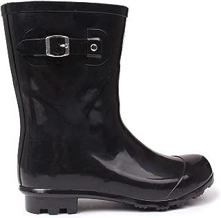 Womens Low Ladies Wellies Slip On Wellington Boots