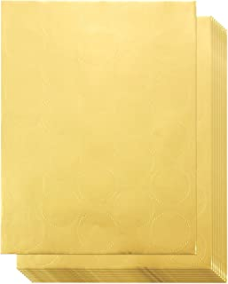 250 Award Stickers - Gold Certificate Seals, Blank Star Stickers Award Certificates, 1.7 Inches in Diameter