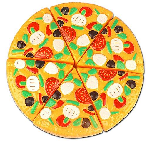 JUNGEN Jeu D'imitation Coupe Fruits Légumes Jeu enfants Kid Jouet éducatif a Decouper de Cuisine Pizza a Decouper pour les Enfant Bébés a la Maternelle école 6pc