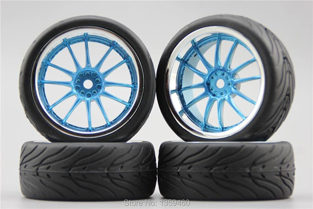 GzxLaY Miami Mall 4pcs 1 10 Soft Rubber On Rim Tire Road Wheel Cash special price H12 Car Tyre