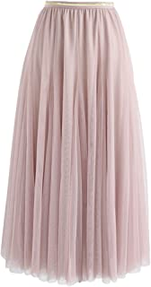 blush pink midi skirt