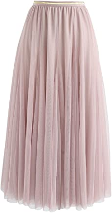 74953a6dad Chicwish Women's Cream/Grey/Pink/Black Layered Mesh Ballet Prom Party Tulle  Tutu