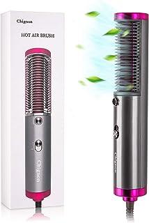 Secador de pelo Cepillo Salon Alisador Peine, Calentamiento rápido de cerámica Cepillo para alisar el cabello anti-escaldado.