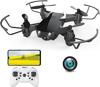 EACHINE E61HW ドローン カメラ付き 小型 室内 屋外 こども向け おもちゃ 子供用 初心者 高度維持 スマホで操作可 WIFI FPV リアルタイム ミニドローン ラジコン 日本語説明書付き 2.4GHz 国内認証済み ブラック