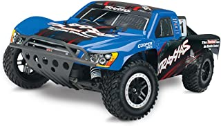 Traxxas Nitro Slash: 2WD Short Course Racing Truck with TQi 2.4 GHz Radio & TSM (1/10 Scale), Blue