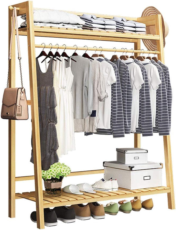 Barture Coat Rack, Floor-Standing Hanger Multifunction Bamboo Frame Storage Bedroom Coat Stand Office Corridor Garage (color   50CM)