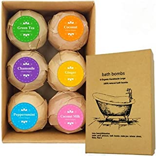 Dolity 6pcs Handmade Natural Bath Salt Essential Oils Balls Kit Moisturize Dry Skin for Women Men Boys Kids