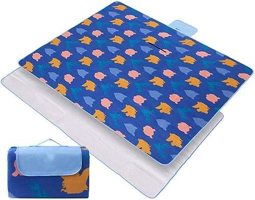 CLKSJOR Tapis de Camping Aluminum Film Picnic Mats Family Camping Cooking Blanket Waterproof Beach Mattress Folding Handy Mats